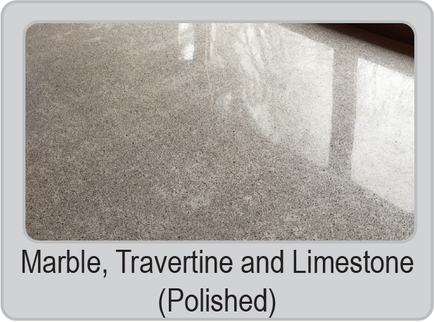 Marble, Travertine and Limestone (Polished)