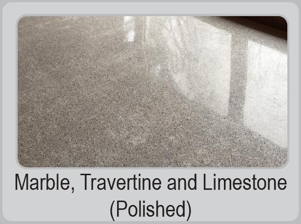 Marble, Travertine and Limestone (Polished)